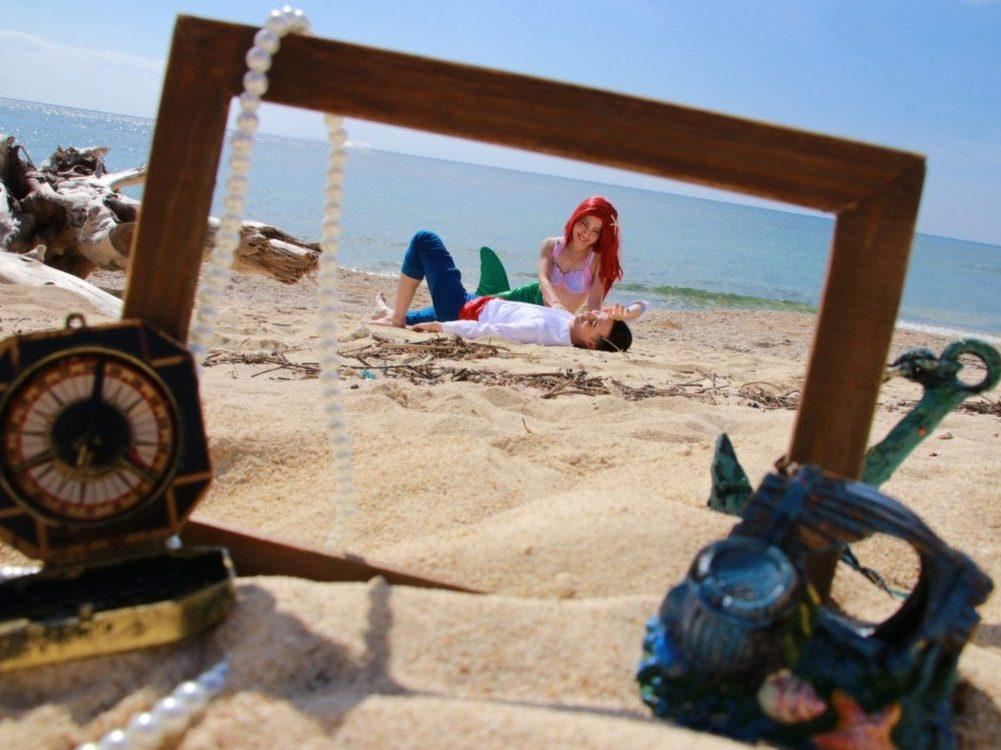 沖縄本島のビーチでマーメイド体験スタート
