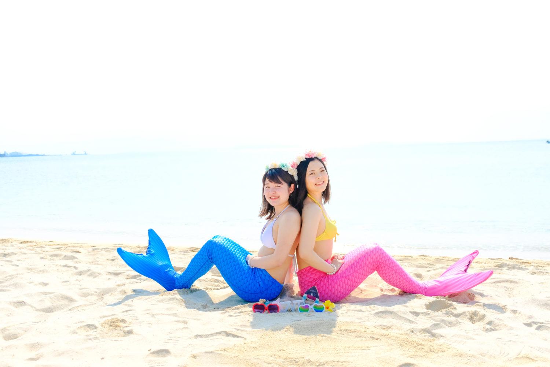 白い砂輝く、マーメイド撮影に人気のビーチ♡