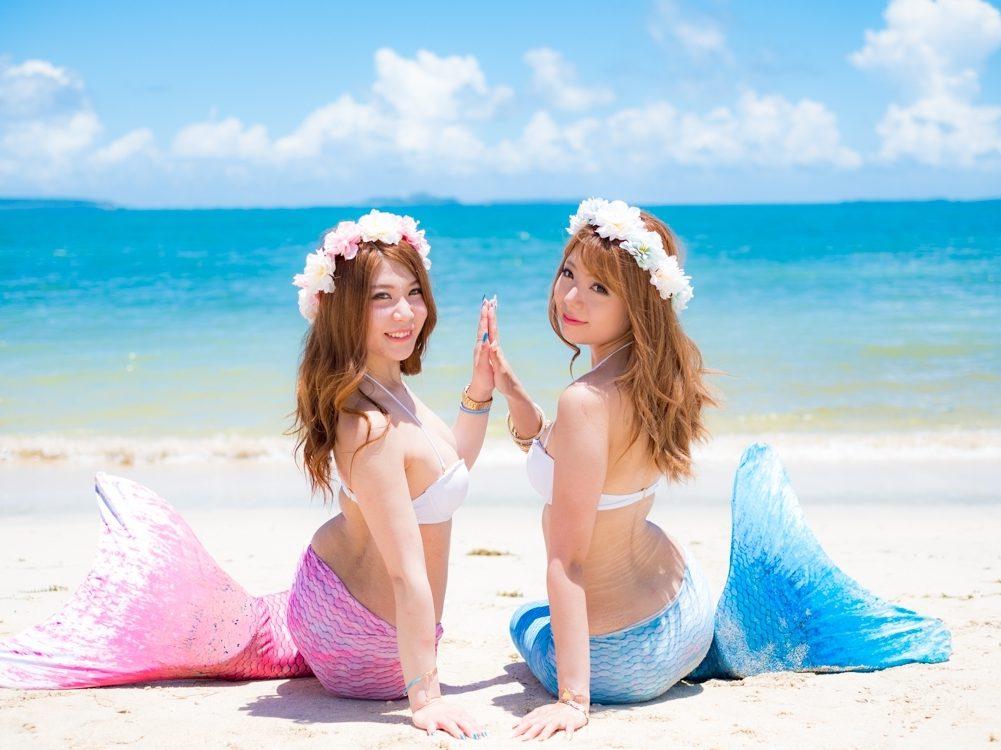 沖縄梅雨明けしました!!青い空の爽やかマーメイド