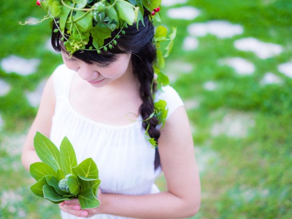 琉球草花撮影でひと味違う記念撮影を♪